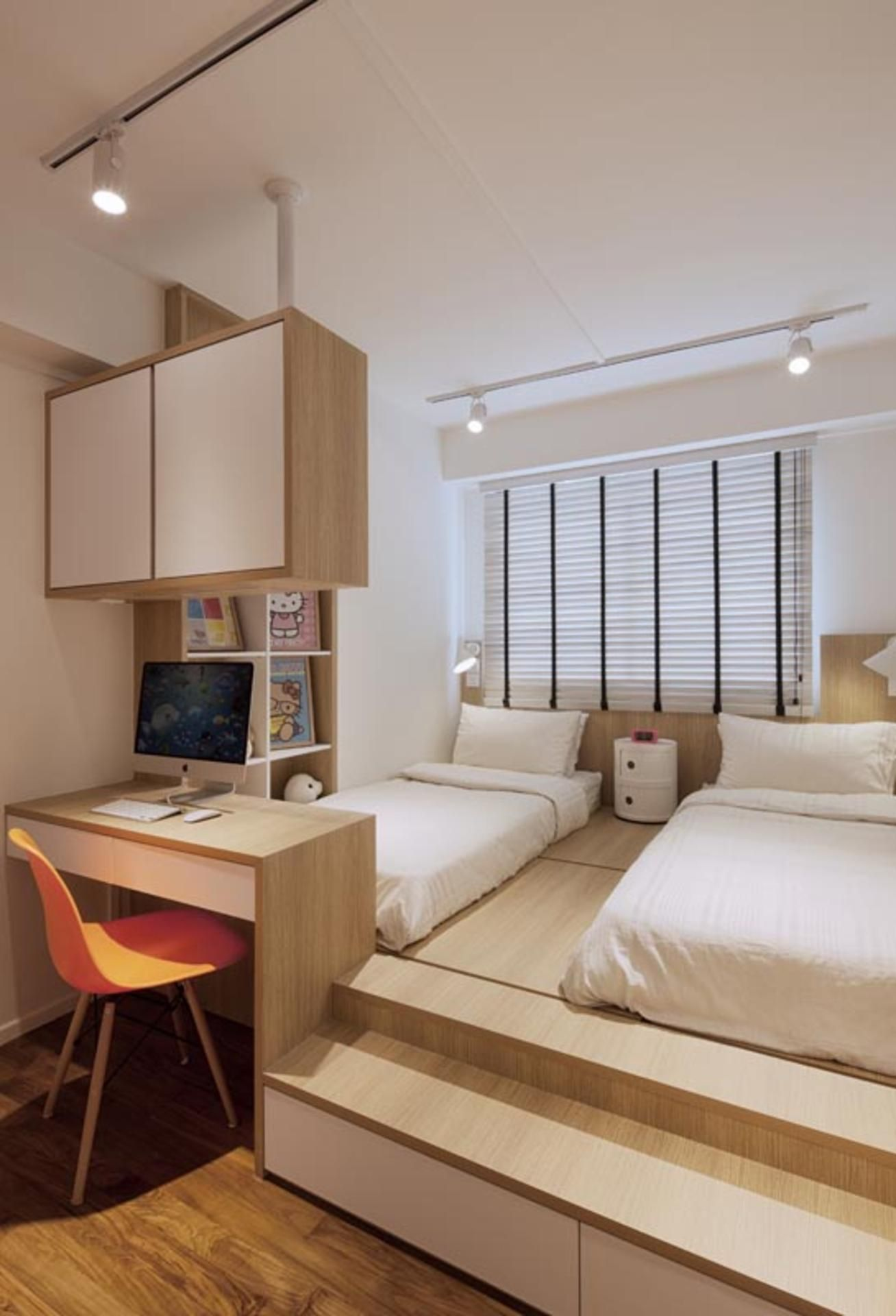 Platform Bed Bedroom Ideas Part - 33: Punggol Waterway Terraces (Block 308A) | Qanvast | Home Design, Renovation,  Remodelling