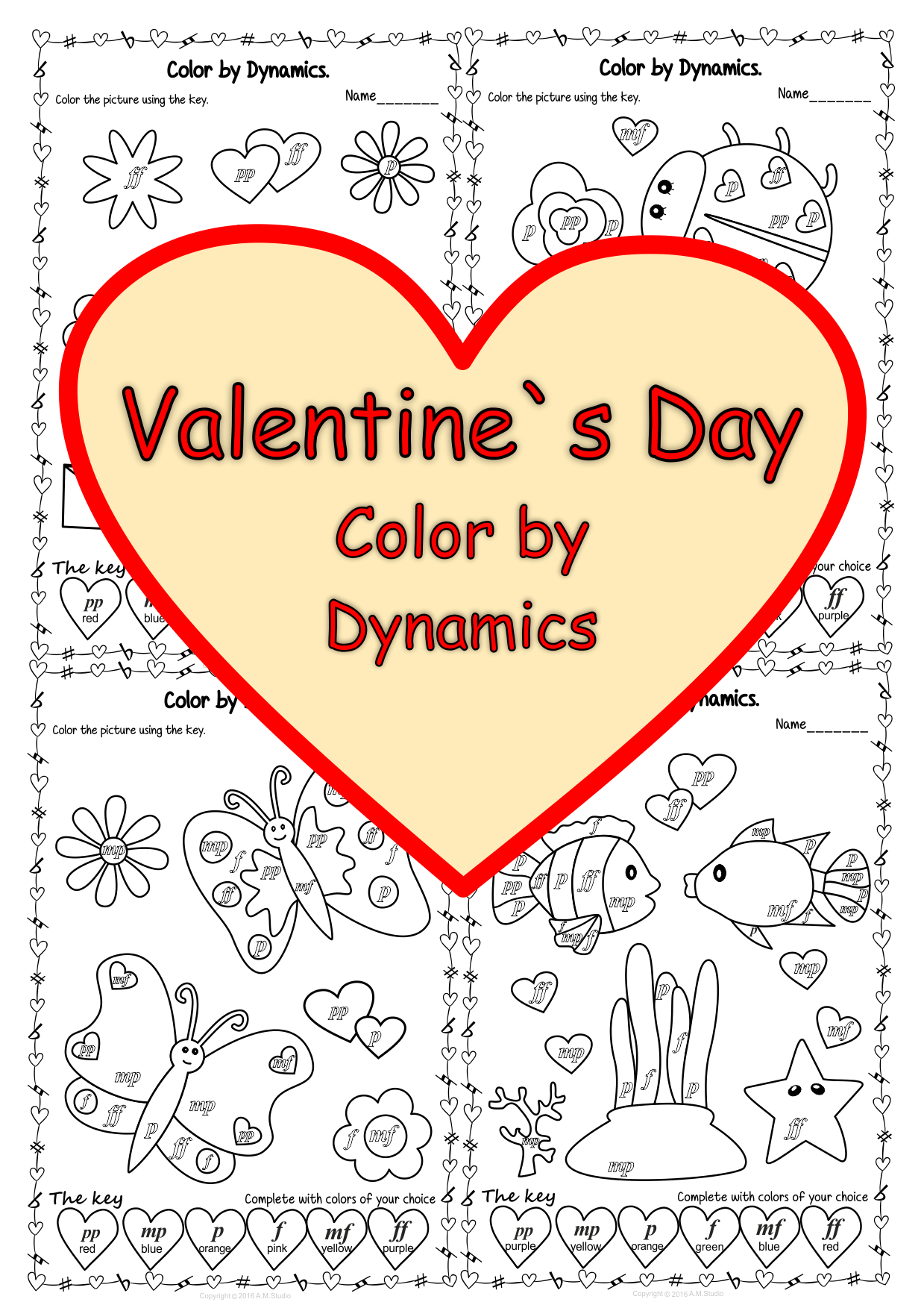 Valentine S Day Color By Dynamics