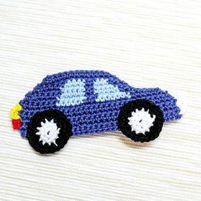 Örgü Aplike Modeli Araba Yapılışı #dollsdollsdolls