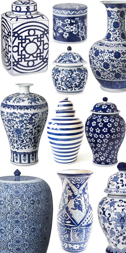 Amazing Blue And White Jars Part - 4: White Porcelain · Ginger Jars