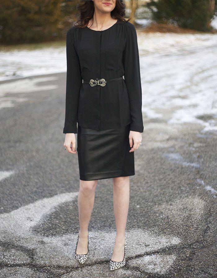 leather skirt - www.lovelucygirl.com