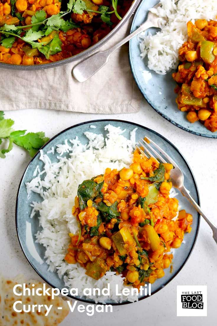 Chickpea And Lentil Curry Vegan