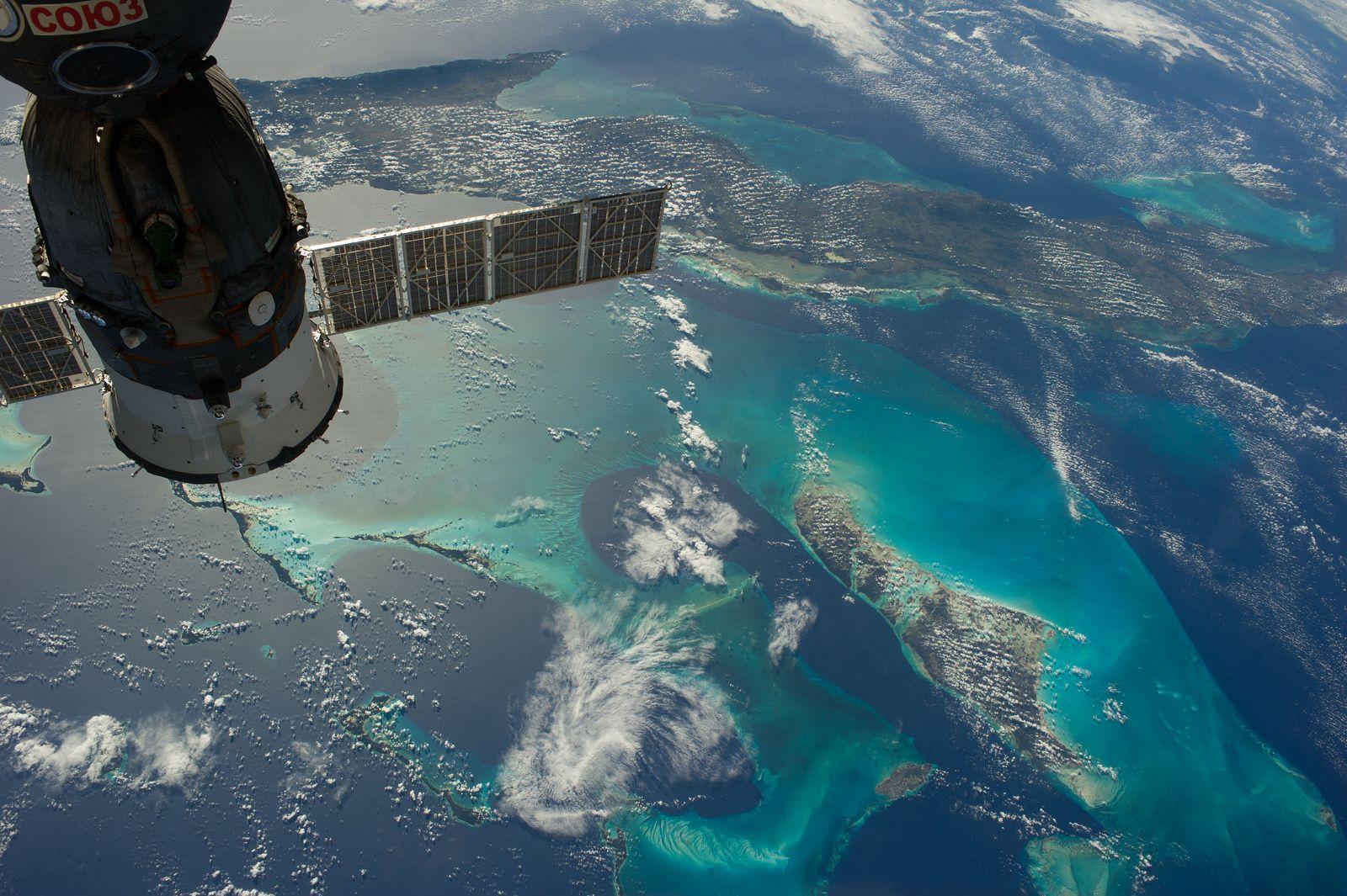 La foto del día: ¿quién no quiere unas vacaciones en el Caribe aun en el espacio?