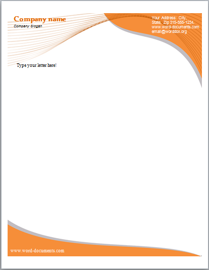 Business Company Letterhead Template Free Small Medium And Large Images Izzitso Company Letterhead Letterhead Template Word Company Letterhead Template