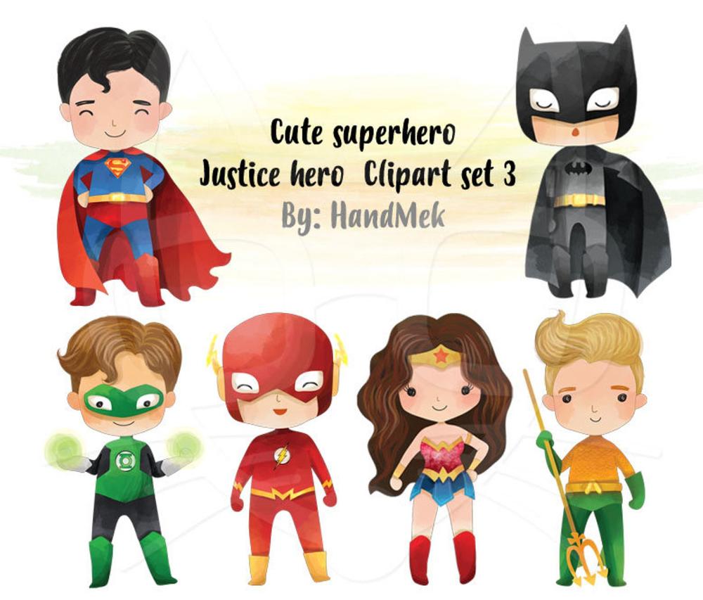 Cute Superhero Clipart Set 3 Justice Hero Clipart Png File 300 Dpi In 2021 Superhero Clipart Clip Art Superhero Cartoon