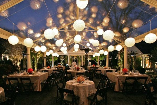 Unique rental considerations for the fall frenzy in tennessee globe lights for wedding outdoor wedding reception in clear tent featured on the pink junglespirit Gallery
