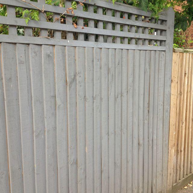 garden fence colour marti pinterest garden fencing. Black Bedroom Furniture Sets. Home Design Ideas