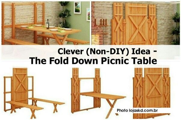 We Could Do A Few On The Back Blank Wall Wooden Picnic Tables
