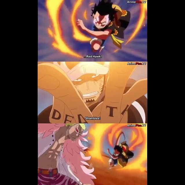 The first time that luffy had used gear 2nd was his fight with cp9 member blueno. One Piece Wallpaper When Does Luffy Use Red Hawk