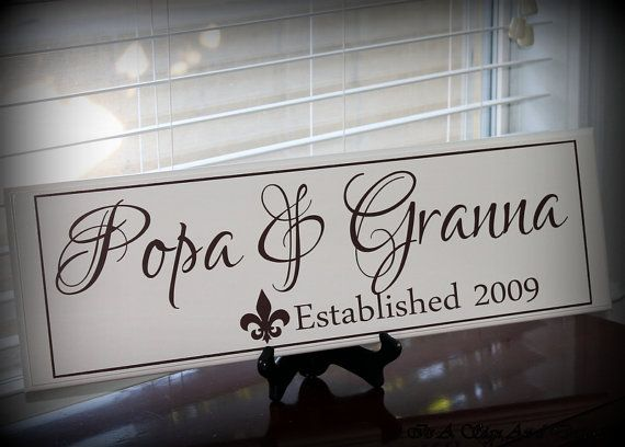 Grandparent Gifts Grandmother Gift Baby Announcement Grandparent ...