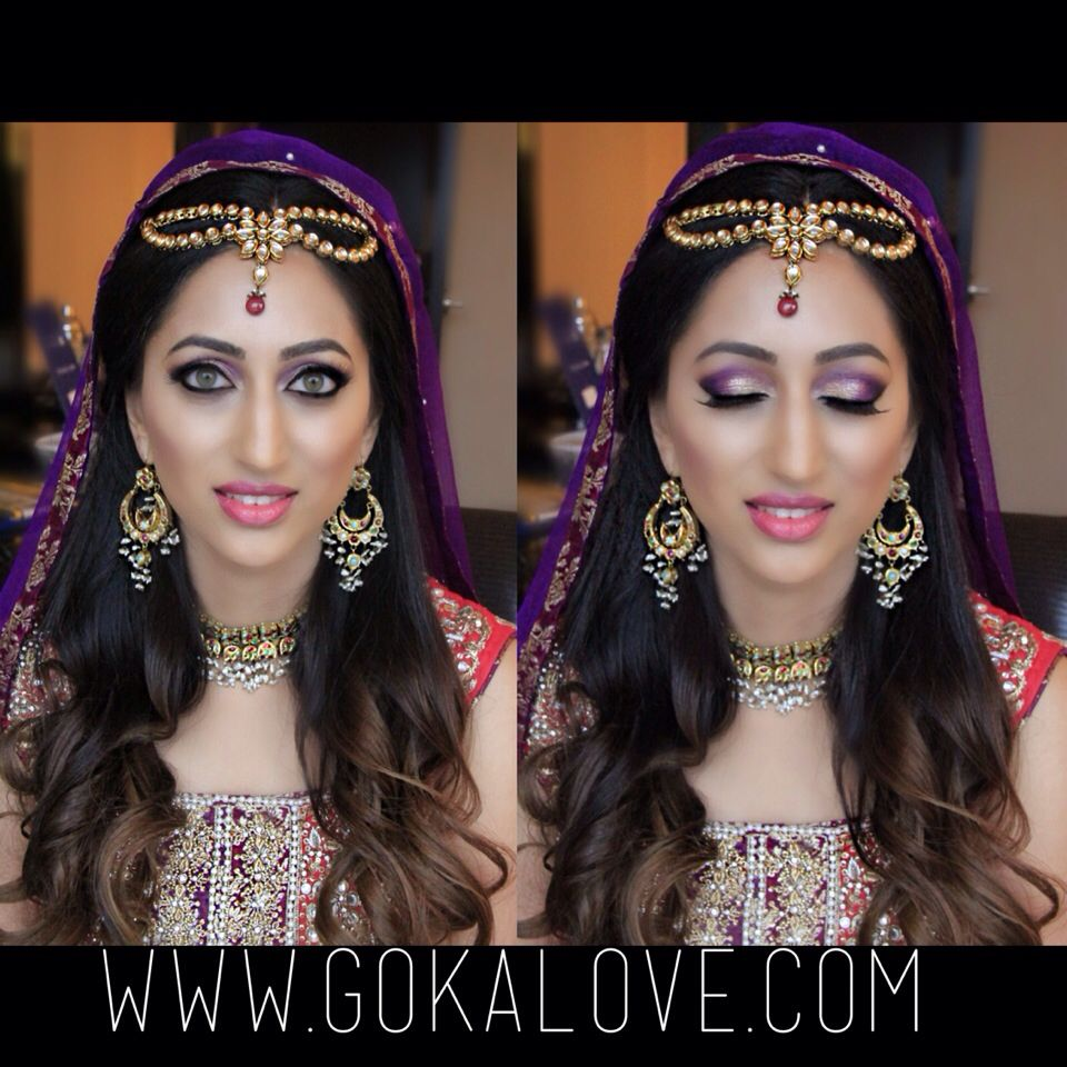 makeup and hair for bride's mehndi! boston massachusetts