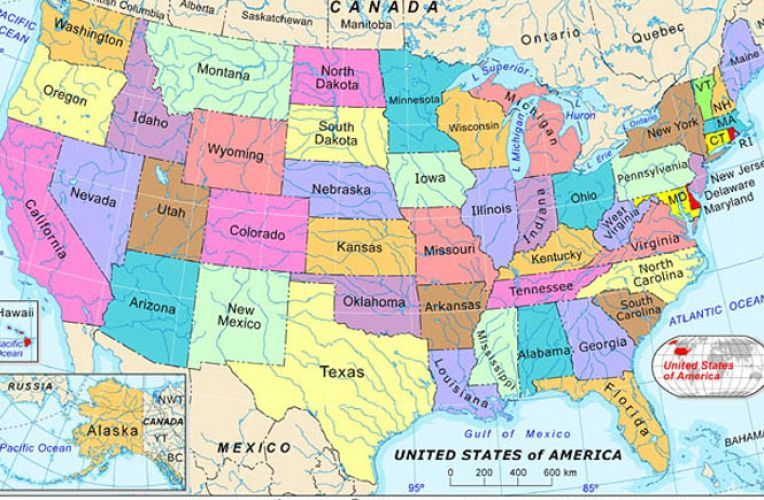 Free Detailed United States Map Detailed Map Of The United - Detailed map of united states of america