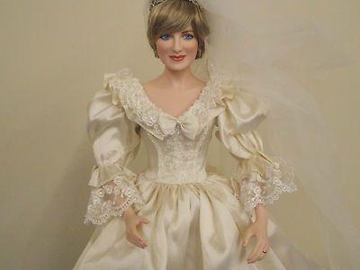 Charming 18 Princess Diana Porcelain Wedding Doll Franklin Mint ...