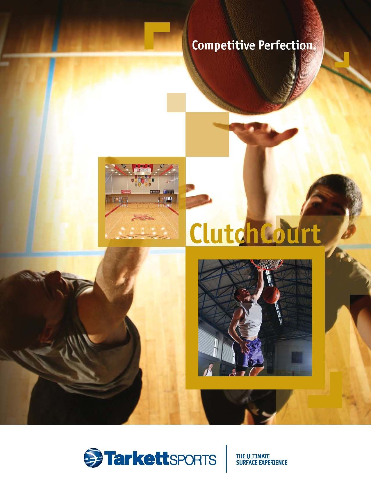 Tarkett Sports ClutchCourt is a set of MFMA maple floor
