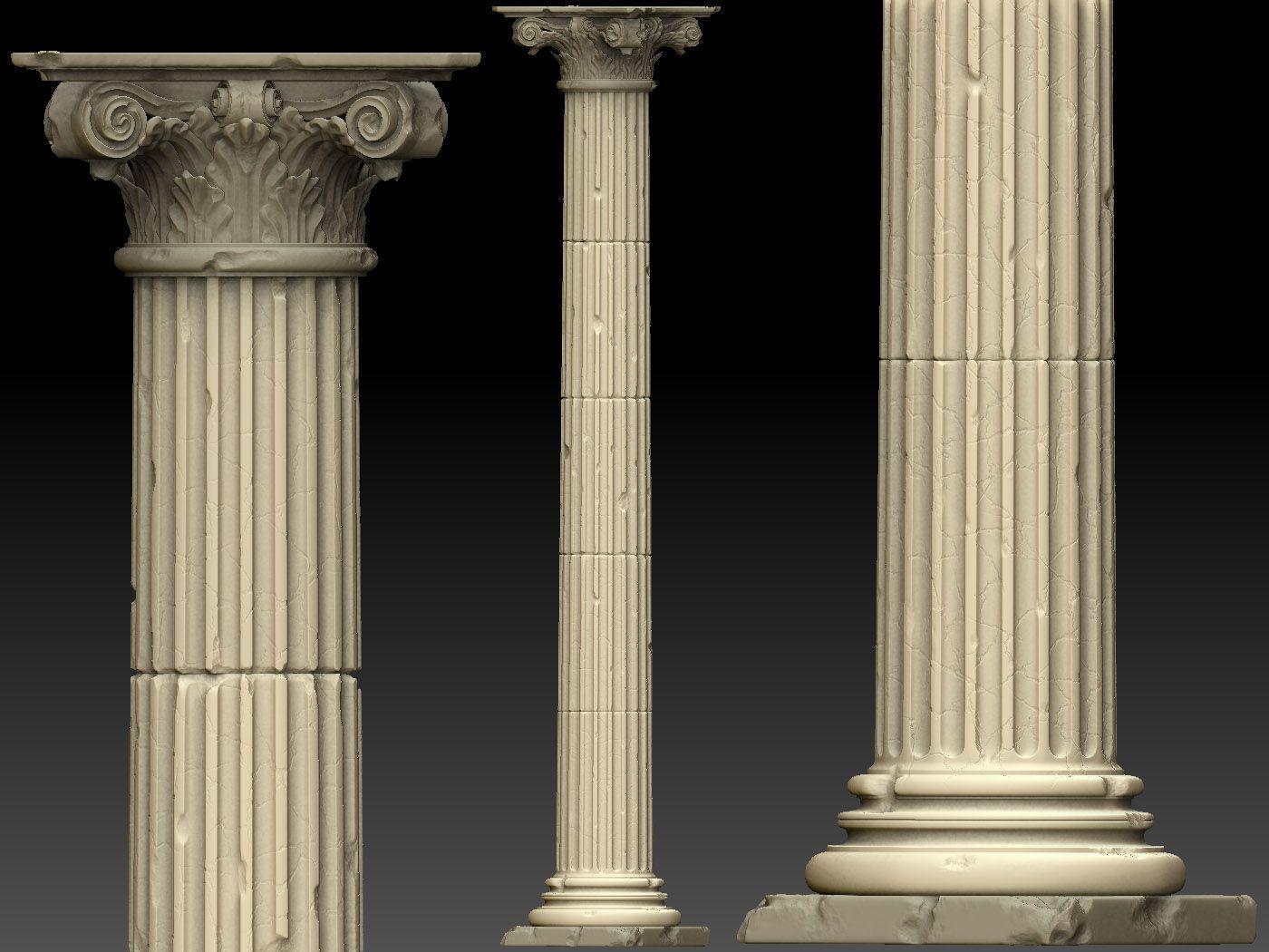 Beautiful Ancient 3d Pillar Places Of Inspiration