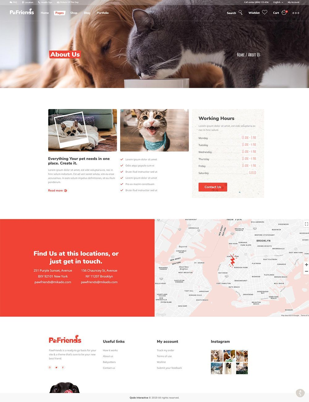 Made for pet stores and vet clinics, PawFriends WordPress theme combines super cute design with amazing features for a true website treat. #wordpress #theme #design #webdesign #uxdesign #uidesign #responsive #designinspiration #webdesign #wordpresslove #template #layout #websitedesign #branding #websiteideas #webart #webpage #visual