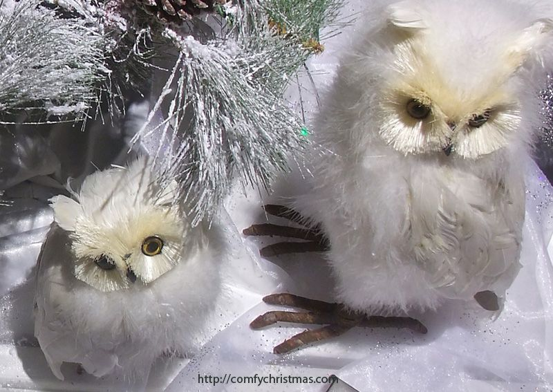 white owl christmas tree ornaments trees pinterest