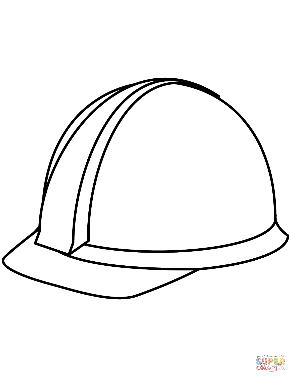 Hard Hat Super Coloring Hat Crafts Hat Template Coloring Pages