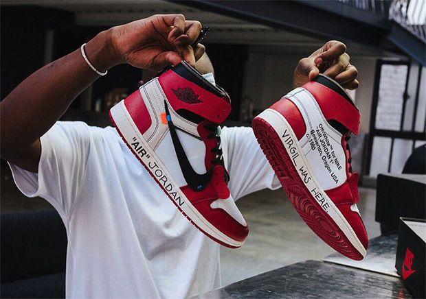 #sneakers #news Virgil Abloh Customizes OFF WHITE x Air Jordan 1 For Michael  Jordan
