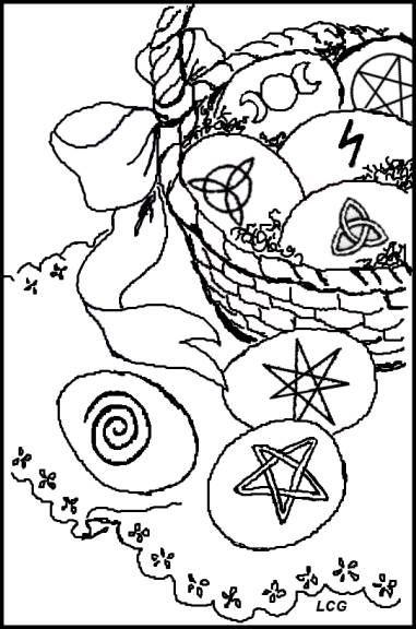 Ostara Crafts For Kids Ostara Coloring Pages Pagan Crafts