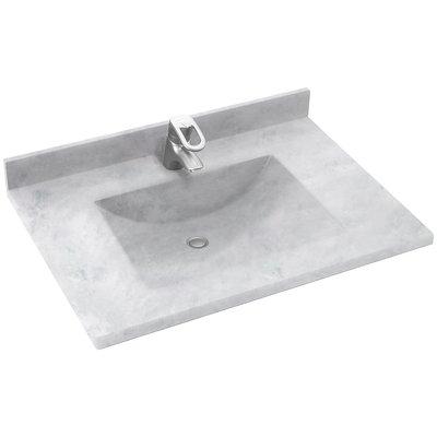 Swan Contour Solid Surface 37 Single Bathroom Vanity Top Top
