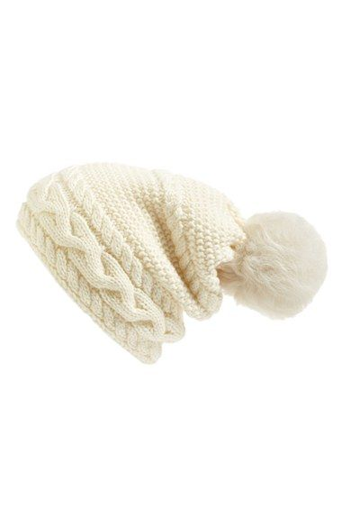 668c173df33d4 Free shipping and returns on UGG® Cable Knit Genuine Shearling Pom Beanie  at Nordstrom.com. Keep ears cozy and warm in this chunky cable-knit beanie  topped ...