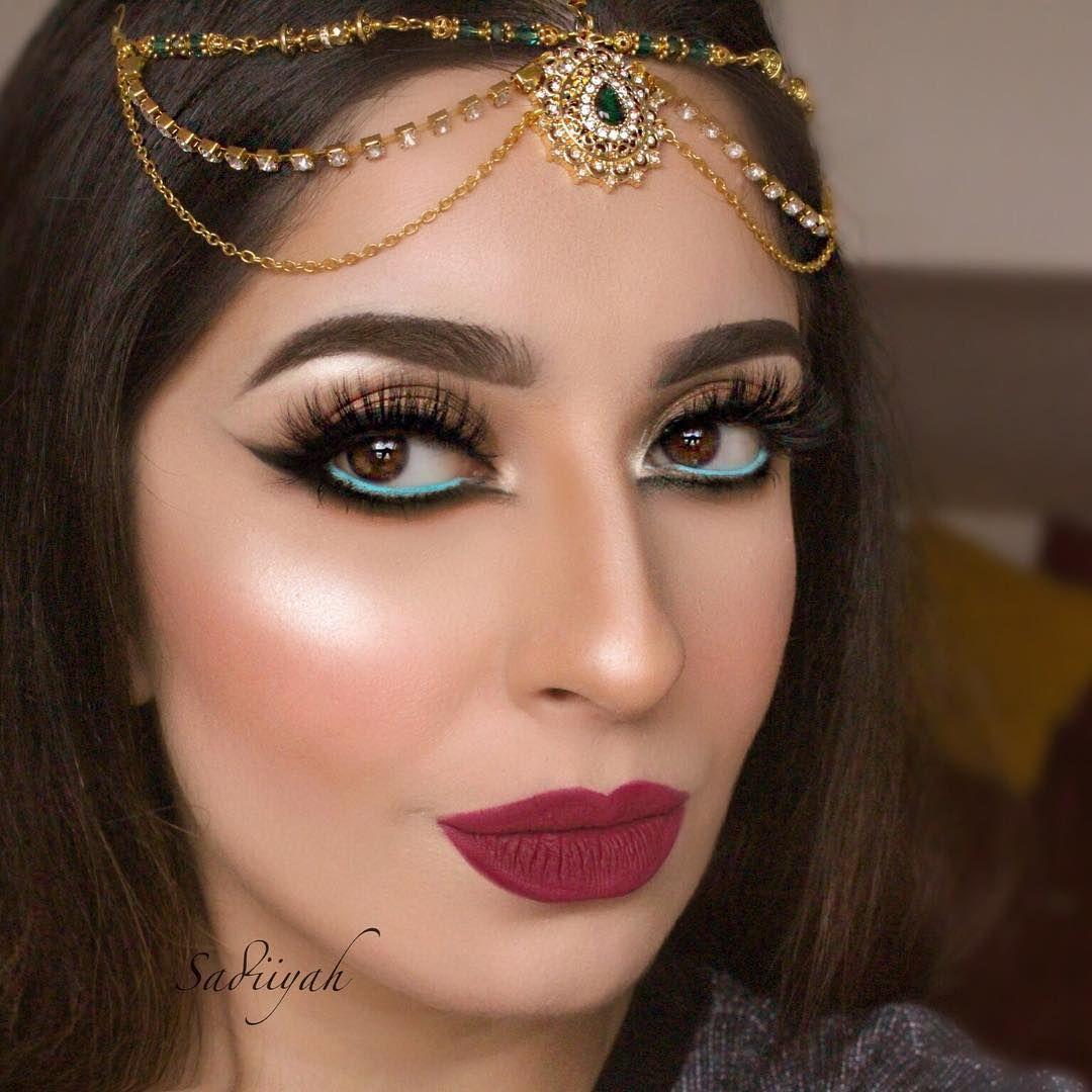 Indian Wedding Headdress: Sadiiyah Bridal Matha Patti Headpiece Gold Green