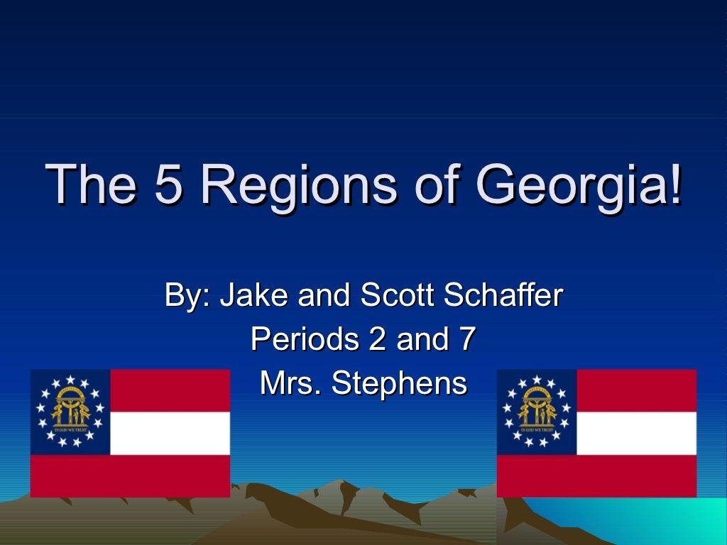 The 5 Regions Of Georgia By Jennifer Wilson Via Slideshare