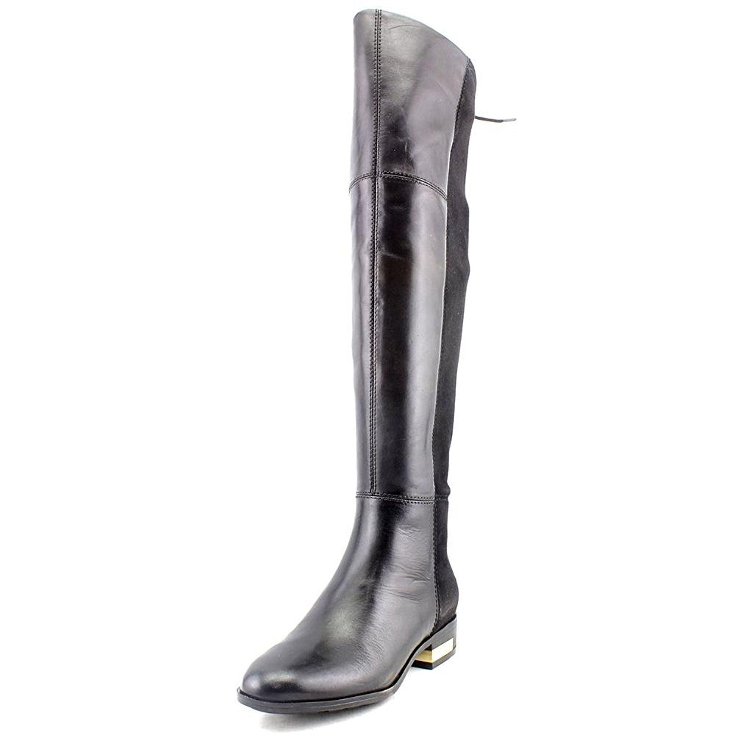 Guess Zoe Women Round Toe Leather Black Over The Knee Boot This Is An Amazon Aff Leather Over The Knee Boots Women S Over The Knee Boots Over The Knee Boots