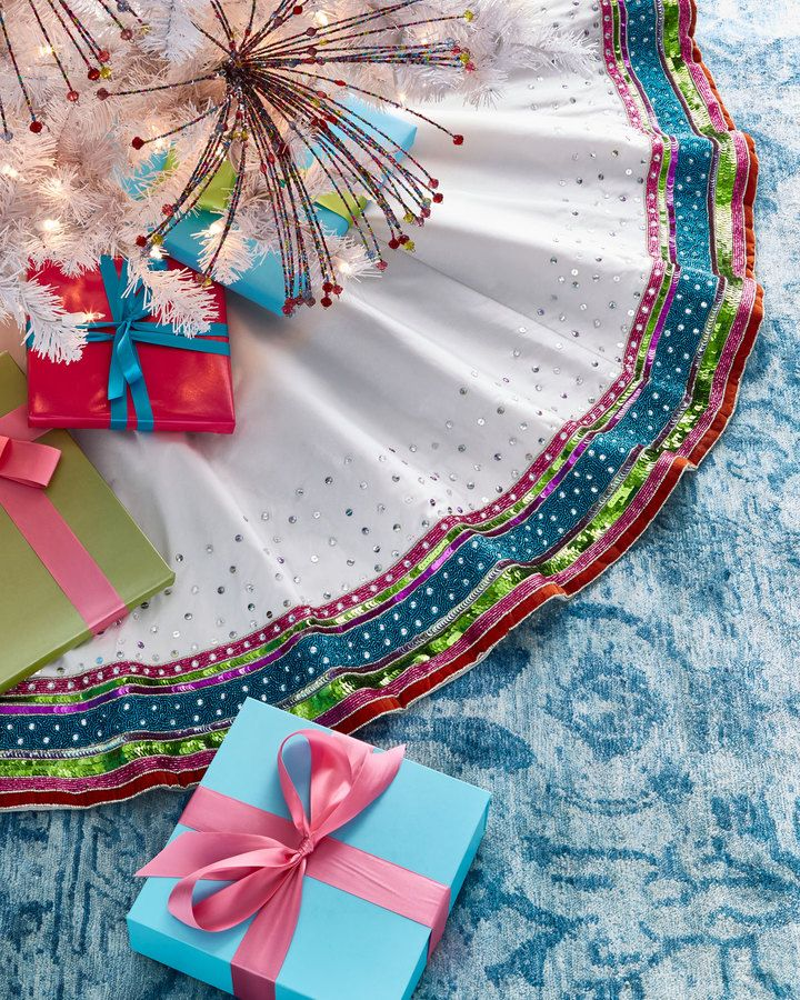 Kim Seybert Playful Brights Collection Tree Skirt Products