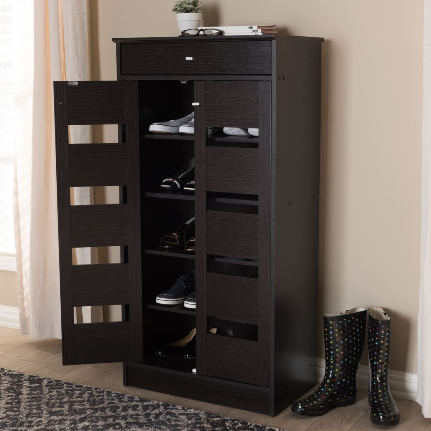 Keep Your Space Tidy And Stylish With The Acadia Shoe Cabinet Shoe Cabinet Shoe Storage Cabinet Wooden Shoe Racks