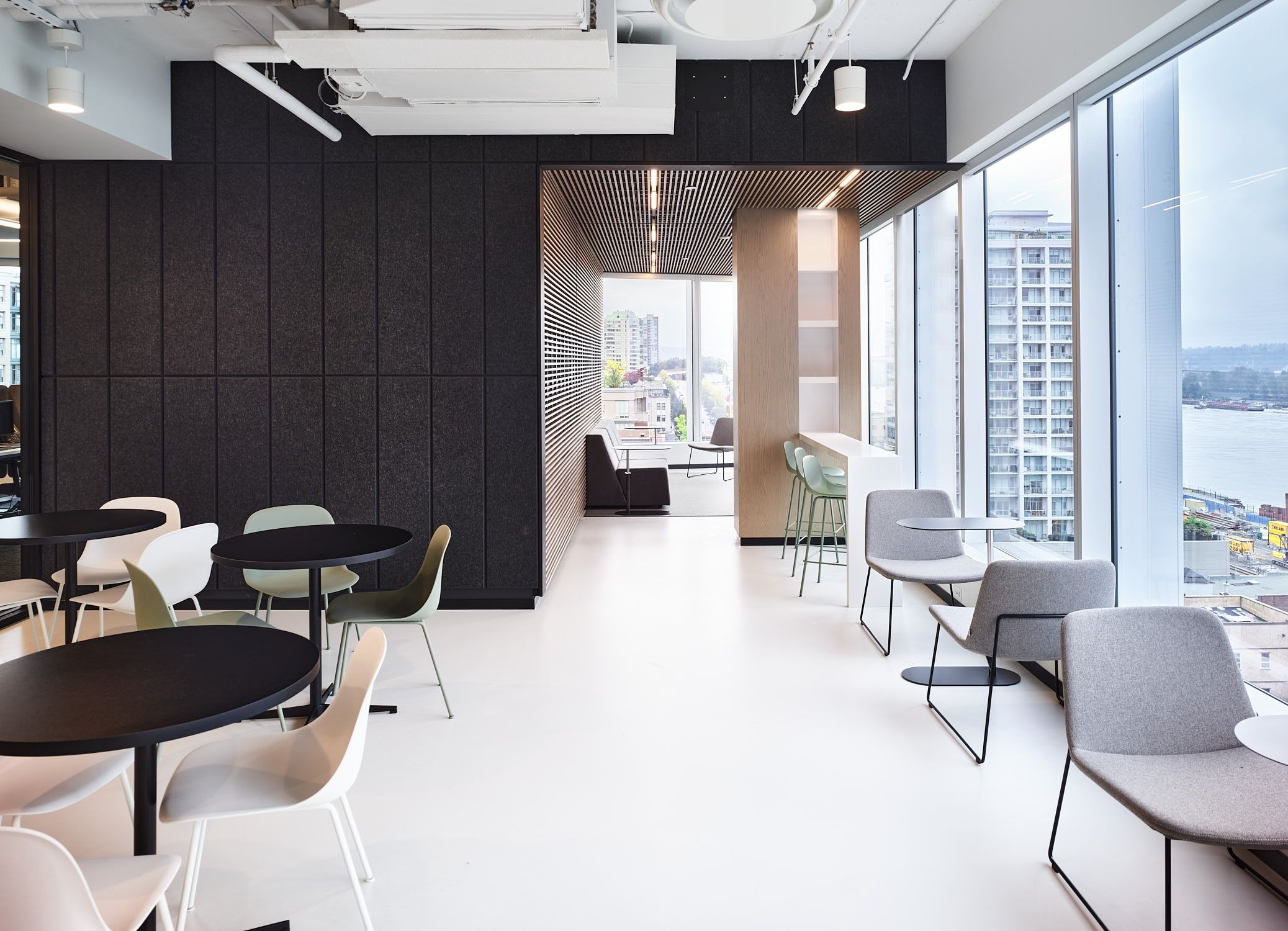 Interior Design By Cutler For Panago Call Centre Design Vancouver In 2020 Commercial Interior Design Interior Design Architecture Design