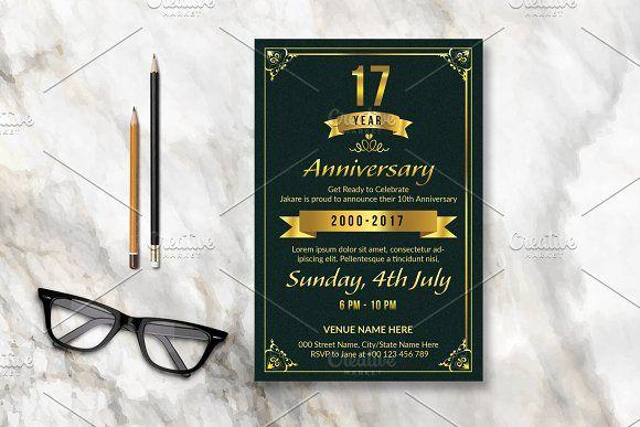 Anniversary Invitation Template-V586 @creativework247 Templates - anniversary invitation template