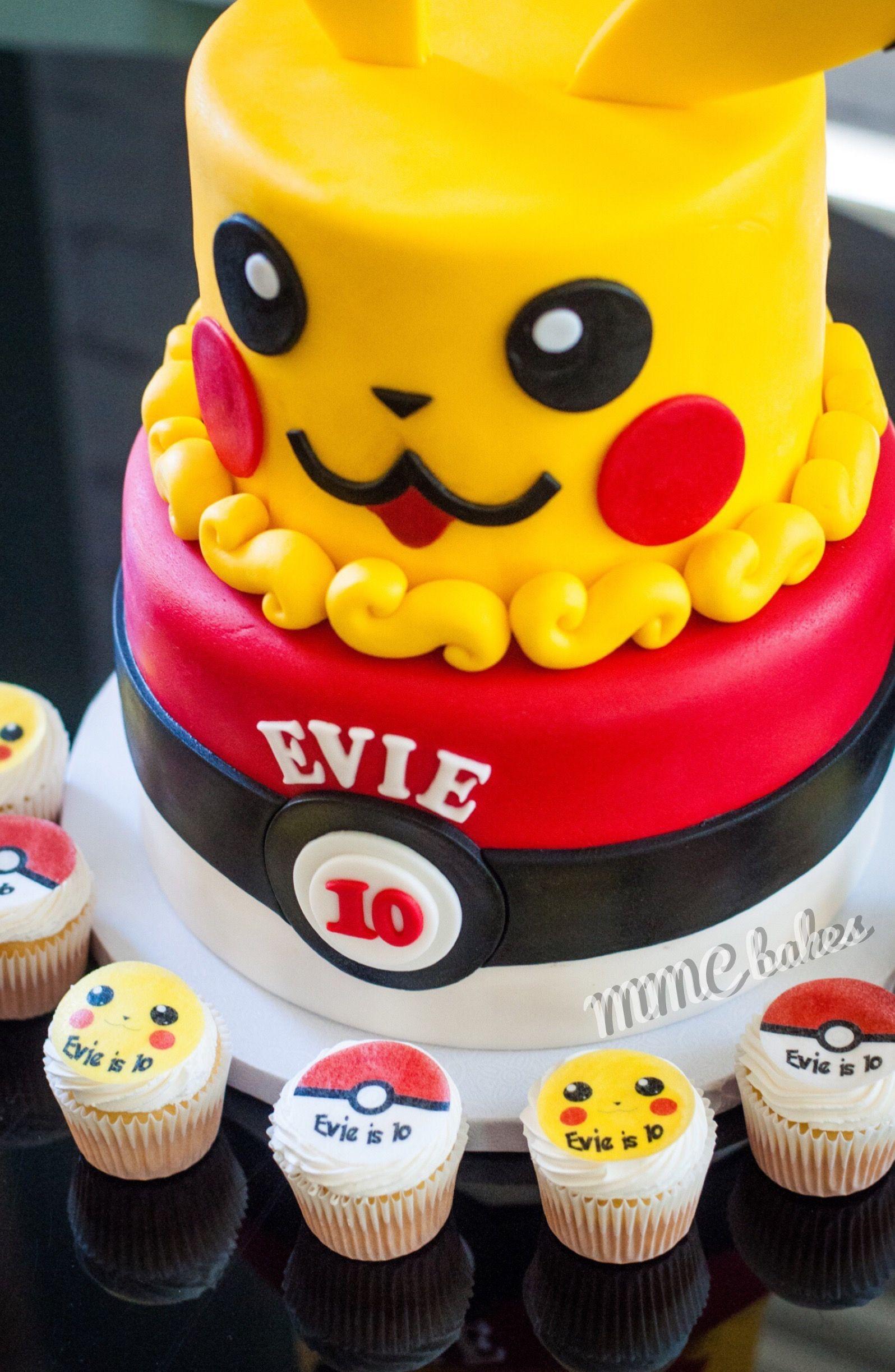 pokemon cake pikachu pokemongo mini cupcakes cupcakes custom