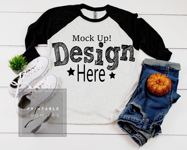 Halloween Shirt Mockup Next Level 6051 Black Raglan Mockup Etsy Shirt Mockup Mockup Free Psd Free Packaging Mockup
