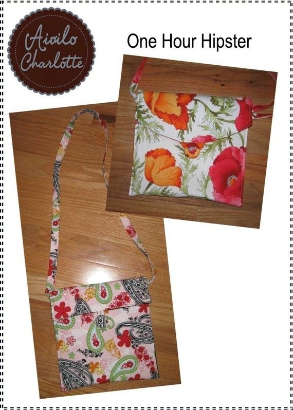 PDF Sewing Pattern - One Hour Hipster - easy sewing project for ...