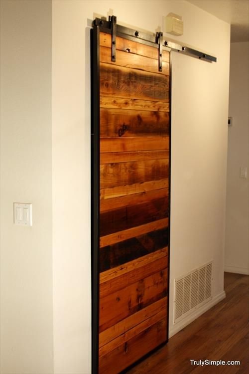 diy wooden pallet door ideas sliding wardrobe