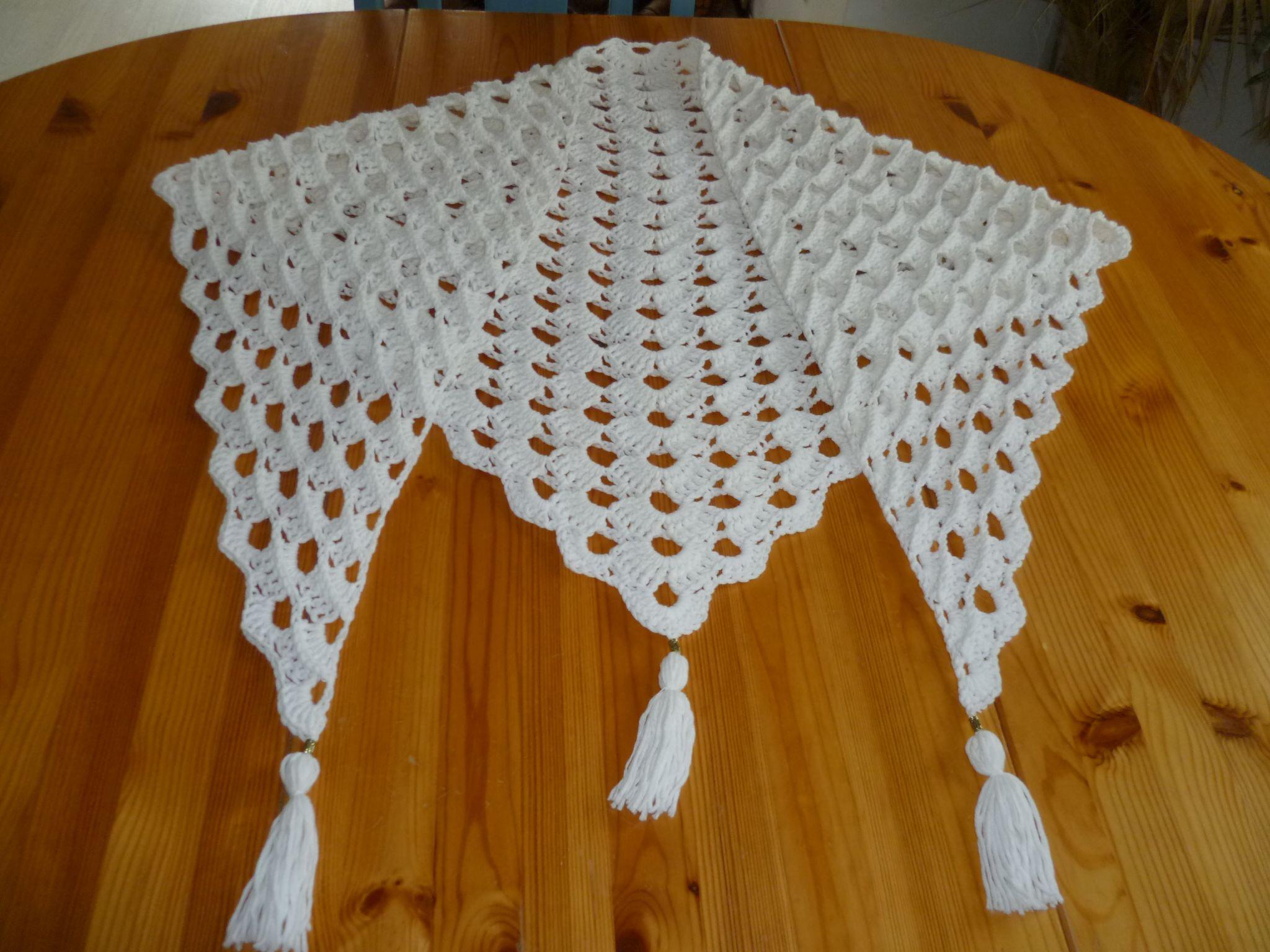 Relief-Muschel-Tuch für Gabi fertig :-) | Tücher, Handwärmer, Mützen ...