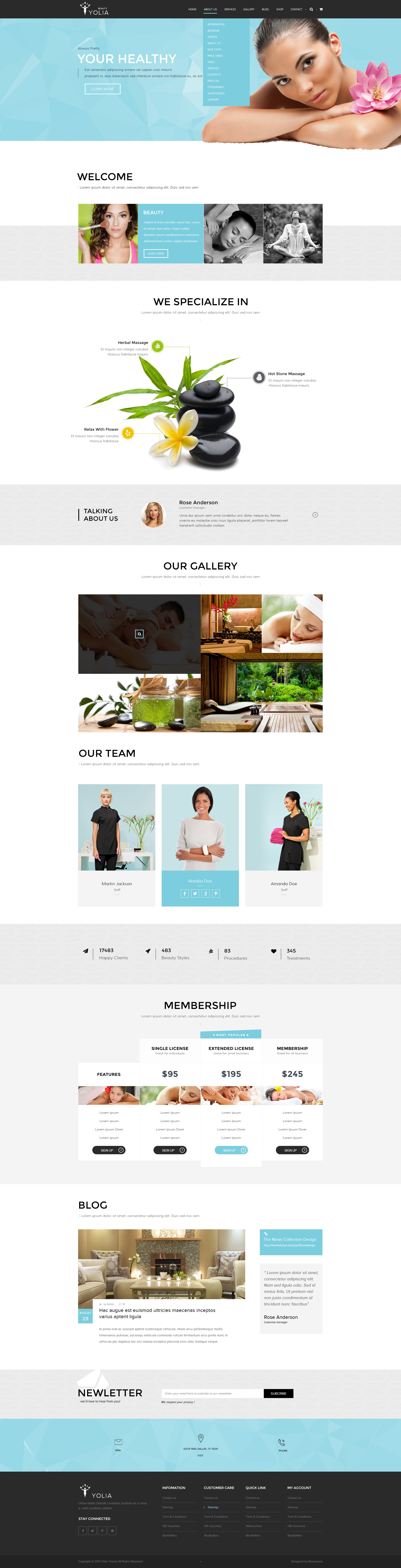 Yolia - Beauty HTML Template