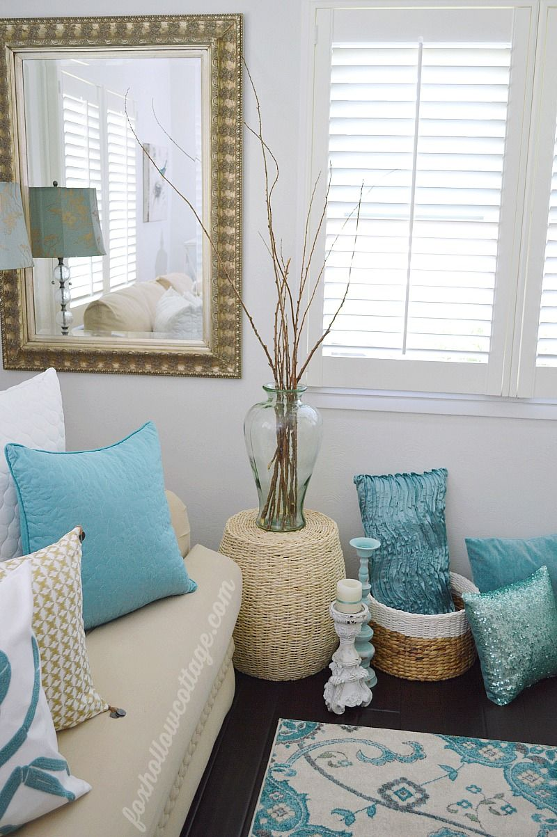 Coastal Cottage Summer Living Room | Coastal cottage ...