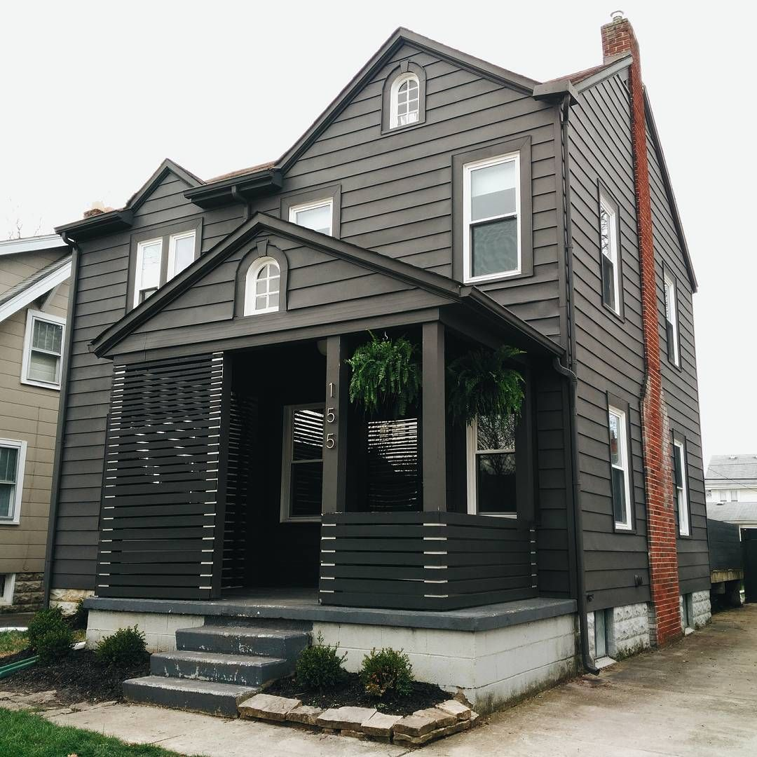 Parade Of Homes Paint Color Scheme And Tour: Benjamin Moore Iron Mountain Exterior Flat