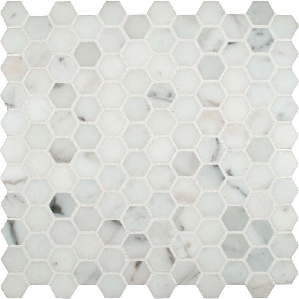 Msi Calacatta Gold Hexagon 12 In X 12 In X 10 Mm Polished Marble