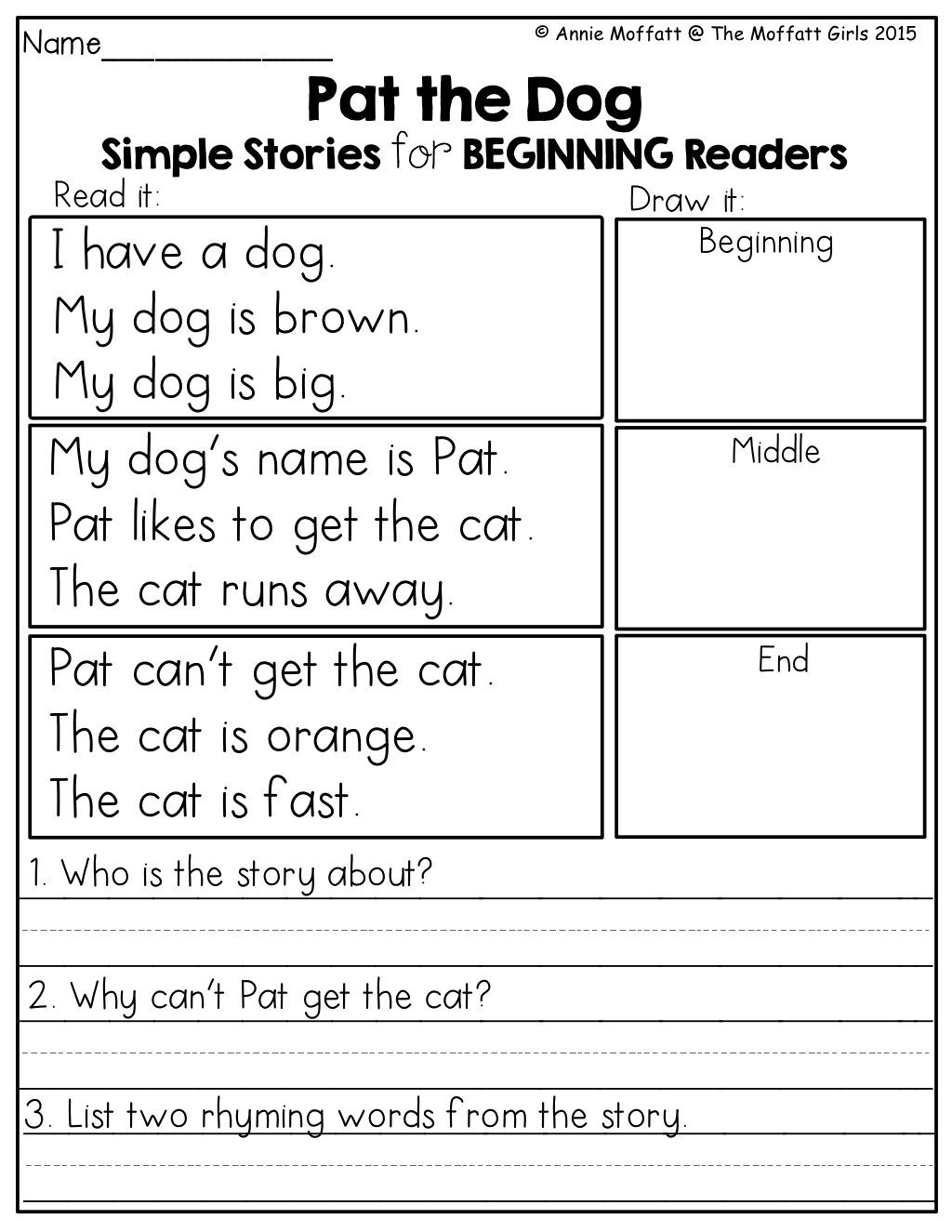 Sequencing Practice Worksheet Middle School