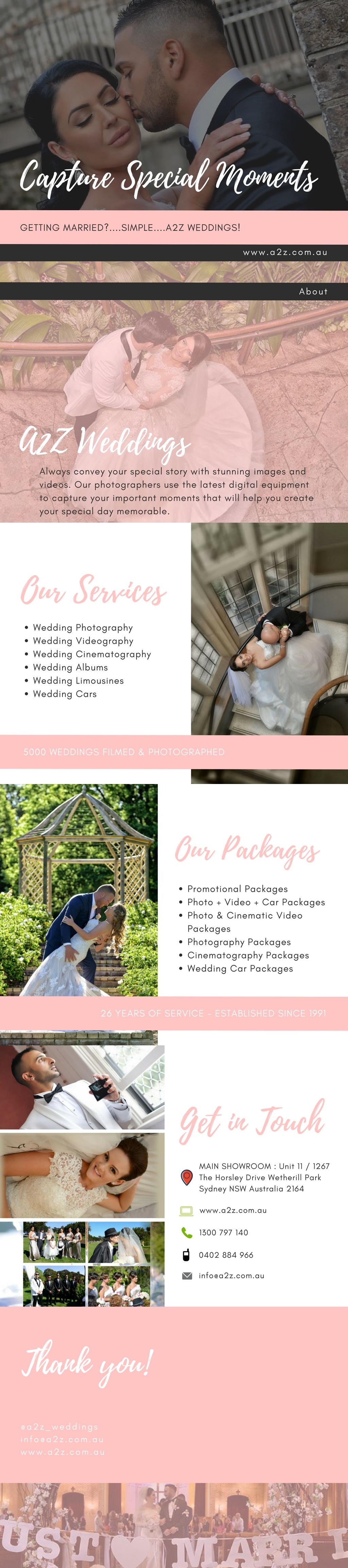 A2Z Weddings Offer A Wide Range Of Wedding Photography And Videography Services In Sydney Explore