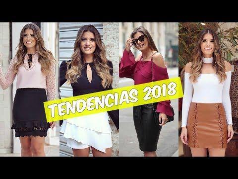 c392f4bae MODA DE FALDAS 2018 I OUTFITS CON FALDAS PEGADAS - YouTube