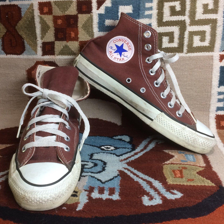 1990s Brown Converse Allstars size 6.5 made in USA Chuck