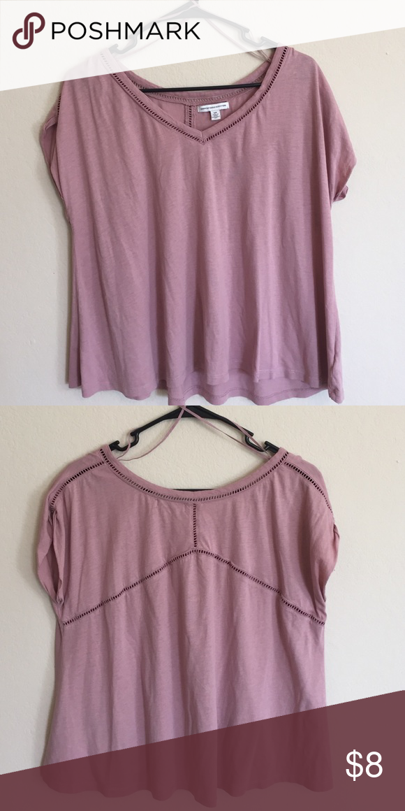 Top loose fitted, short sleeve blouse. 60% cotton 40% modal American Eagle Outfitters Tops Tees - Short Sleeve