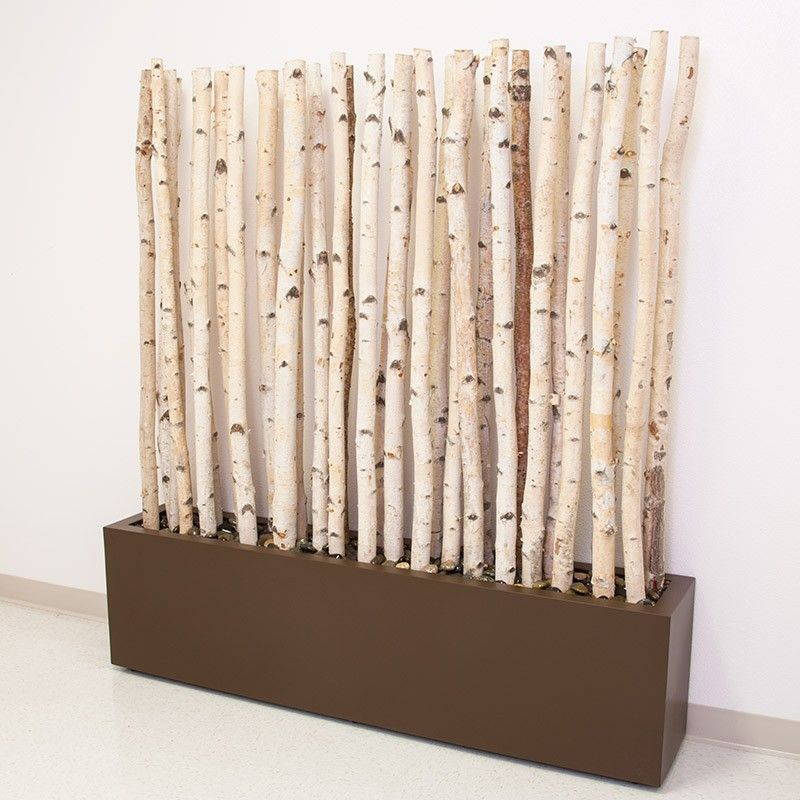 Birch Branches Planter Space Divider Or Outdoor Privacy Screen