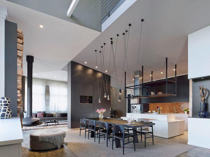 bildergebnis f r esszimmer lampe f r hohe decken wohnen pinterest hohen decken decken und. Black Bedroom Furniture Sets. Home Design Ideas