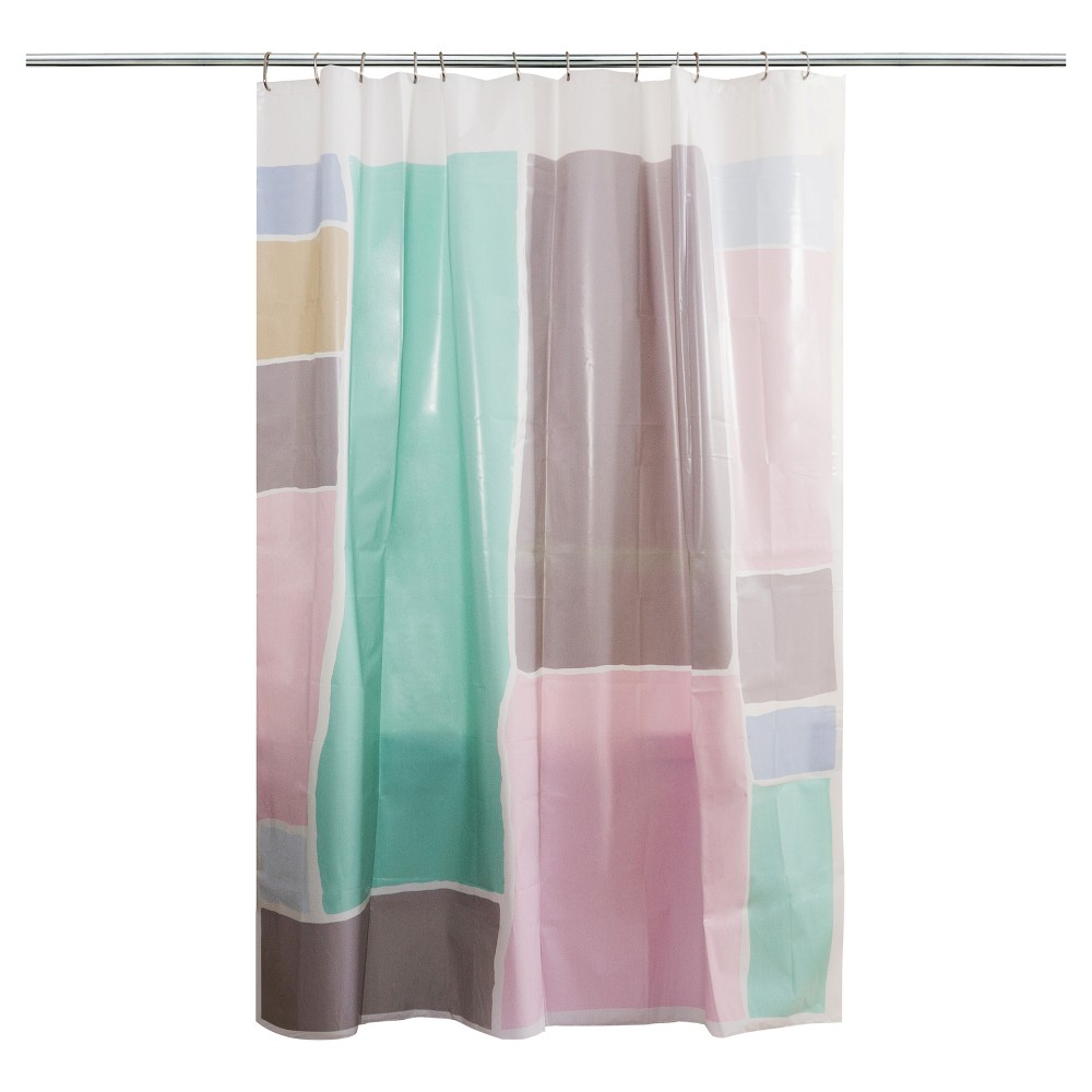 Color Block Shower Curtain Multi Color Room Essentials Pink
